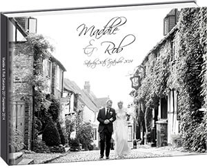 Modern Wedding Album Example - Maddie & Rob
