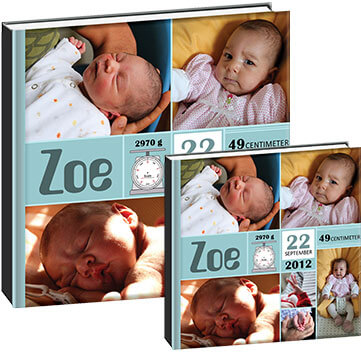 baby photo book for grandparents
